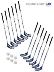 Eurostick Wave Blue IFF Set (12 hokejek)