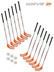 Eurostick Wave Orange IFF Set (12 hokejek)