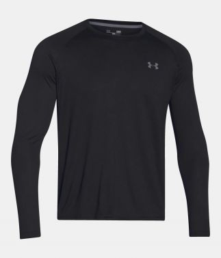 Under Armour Tech LS Black Tee