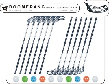 Set MPS Boomerang Black (12 hokejek)