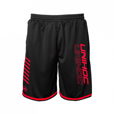 Shorts Unihoc Black/Red Vendetta JR