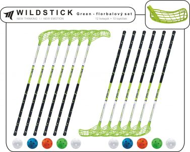 Set MPS Wildstick Green (12 hokejok)